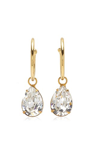 Jane Crystal-Embellished Gold-Plated Earrings