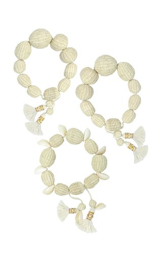 Camino Del Sur Iraca and Shell Bracelets