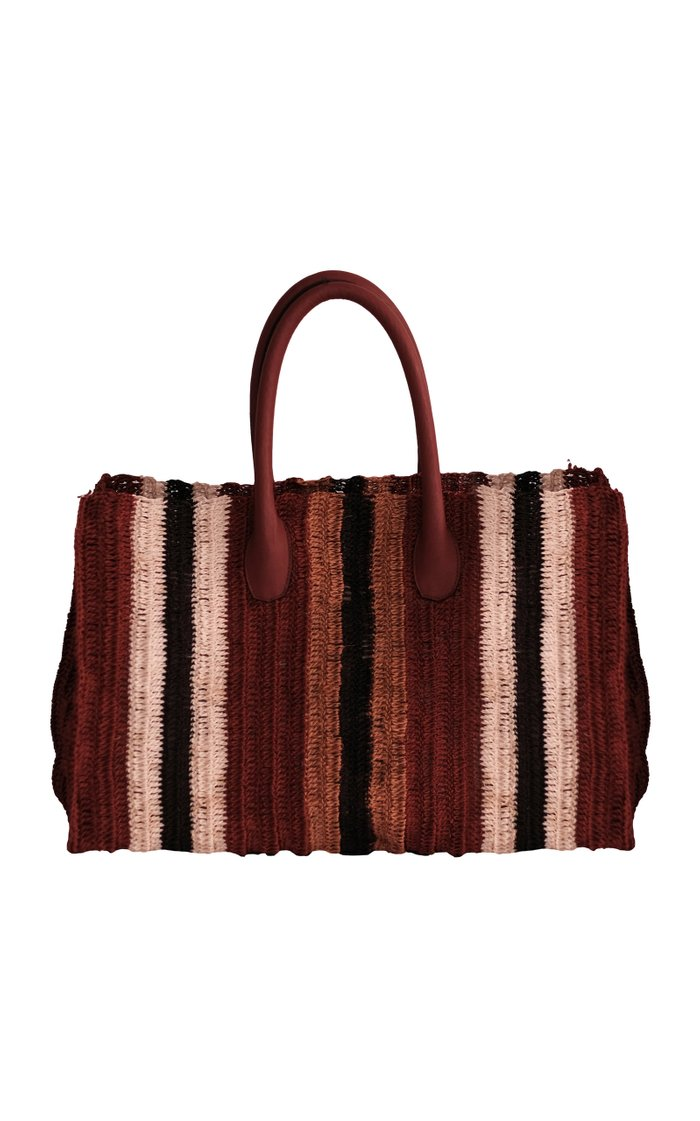 Legendary Civilizations Striped Cotton Tote