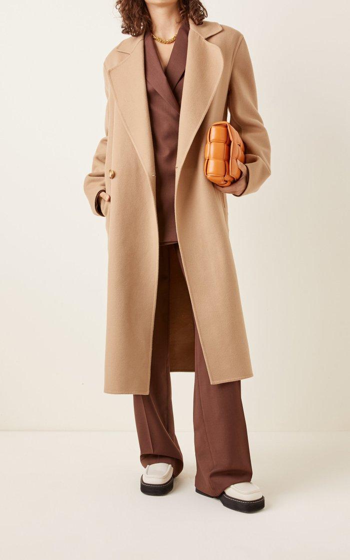 Erika Double-Breasted Wool Coat