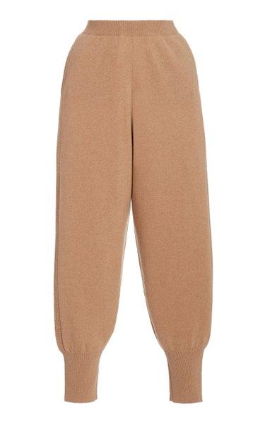 Soft Cashmere-Wool Jogger Pants