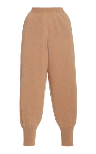 Soft Cashmere-Wool Jogger Pants