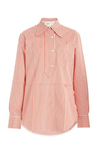 Striped Cotton-Silk Shirt
