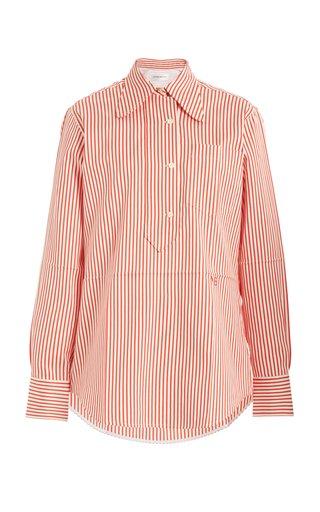 Striped Cotton-Silk Shirt