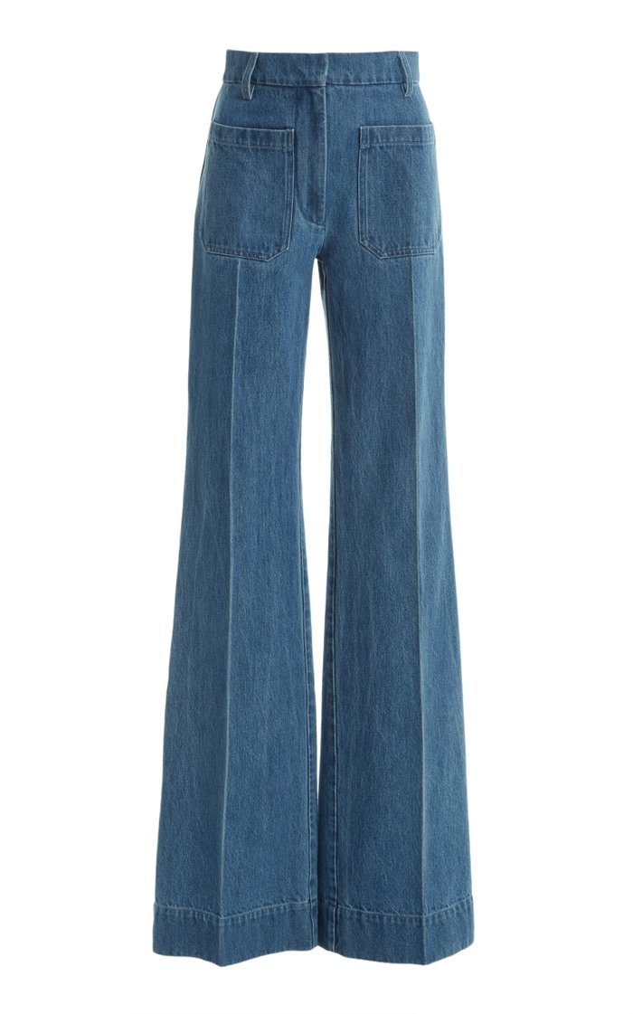 Rigid High-Rise Flared Jeans