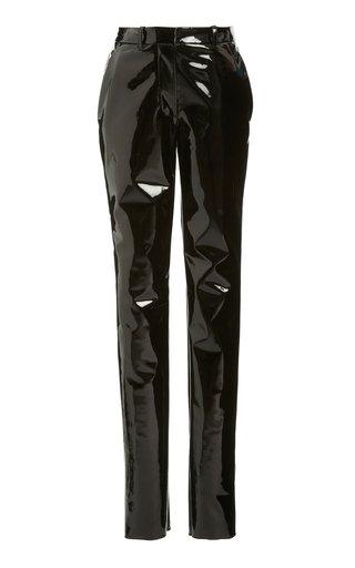 PVC High-Rise Slim Trousers