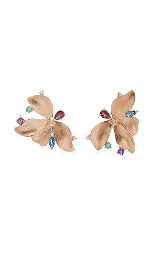 Almare 18K Gold Multi-Stone Earrings