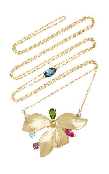 Almare 18K Yellow Gold Multi-Stone Necklace
