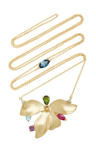 Almare 18K Yellow Gold Multi-Stone Necklace