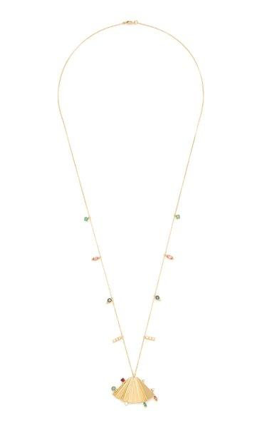 Plissé 18K Yellow Gold Multi-Stone Necklace