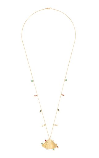 Plissé 18K Yellow Gold Multi-Stone Necklace