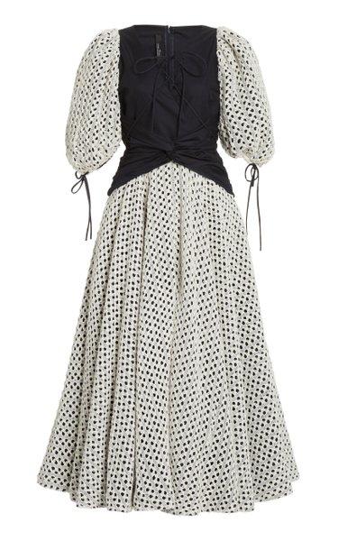 Double Lace Midi Dress