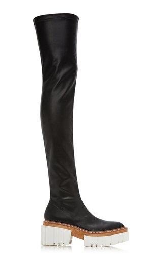 Emilie Vegan Leather Over-The-Knee Boots