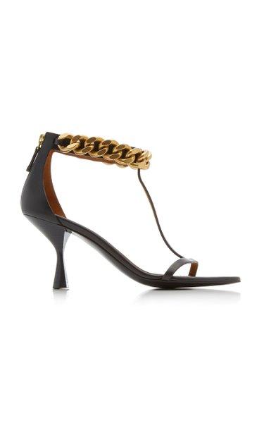 Falabella Chain-Link Vegan Leather Sandals