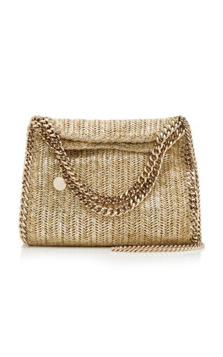 Mini Falabella Metallic Raffia Bag