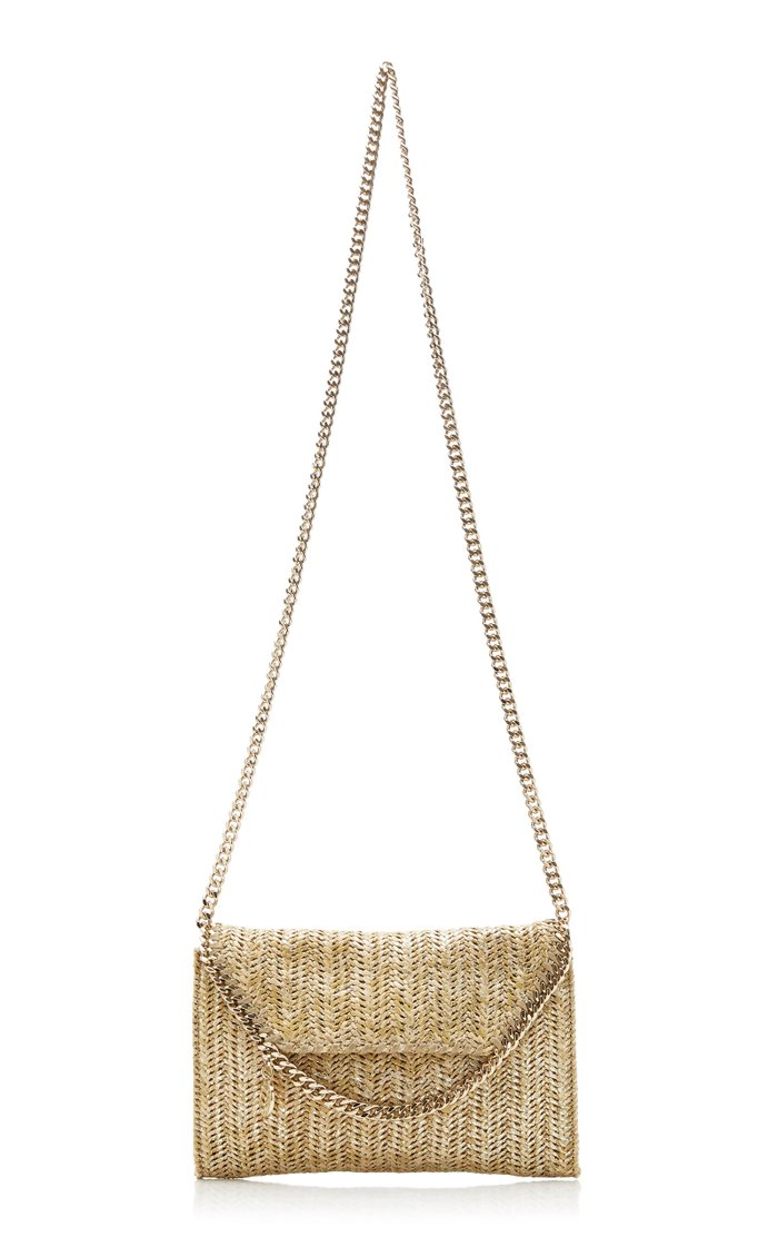 Mini Falabella Metallic Raffia Crossbody Bag