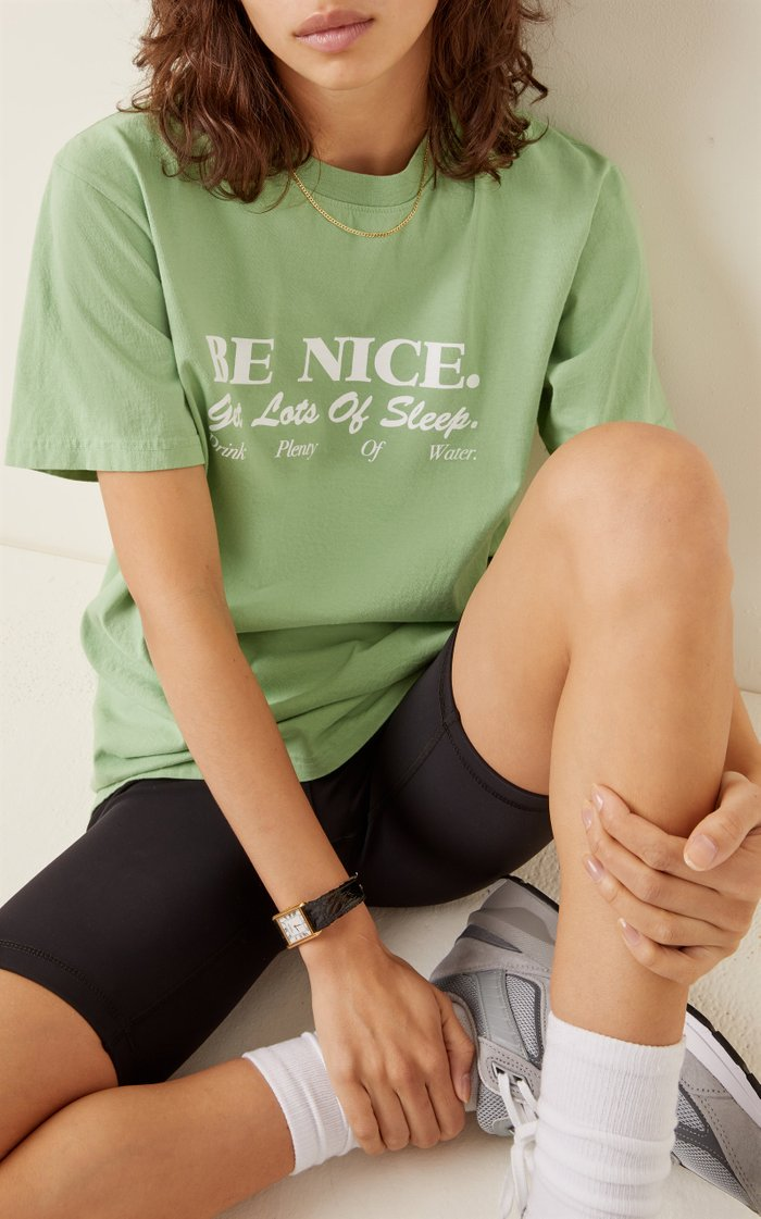 Be Nice Printed Cotton-Jersey T-Shirt