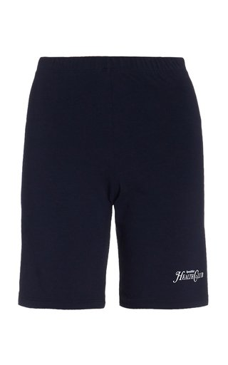 SPORTY AND RICH Cottons RIZZOLI PRINTED COTTON BIKE SHORTS