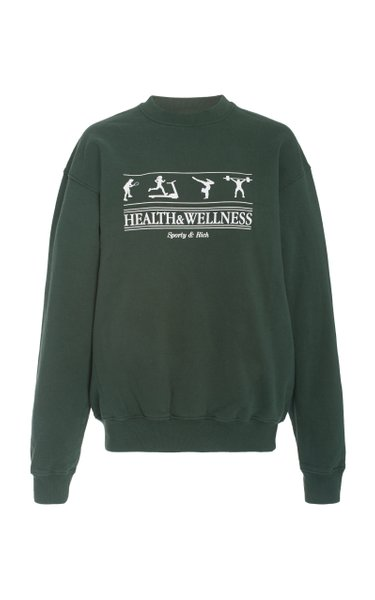 Health and Wellness Cotton-Jersey Sweatshirt
