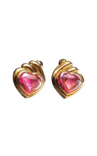 Bulgari Tourmaline & Sapphire Heart Earrings