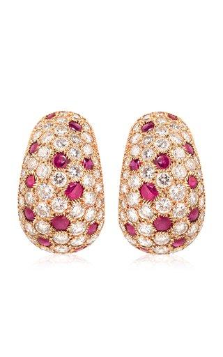 Cartier Ruby & Diamond Earrings