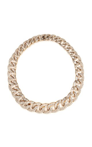 Diamond & 18K Rose Gold Necklace