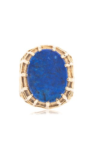 Henry Dunay Gold & Lapis Cocktail Ring