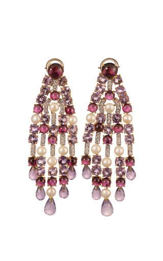Michele Della Valle Gemset Fringe Earrings