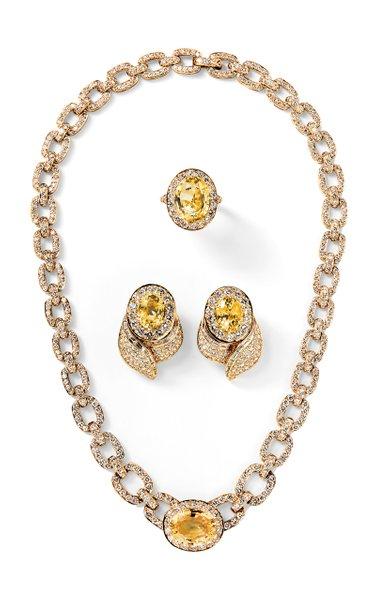 Van Cleef & Arpels Diamond, Yellow Sapphire & Gold Suite
