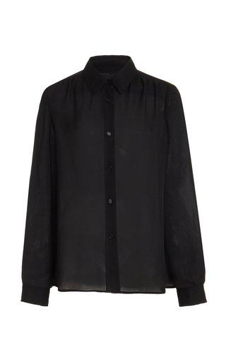 Veronica Gathered Silk Georgette Shirt