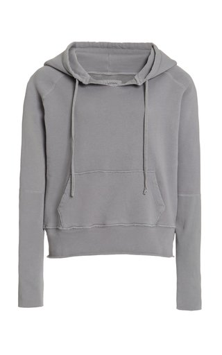 Janie Oversized Distressed Cotton Hoodie