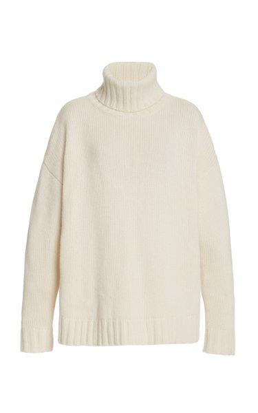 Brently Oversized Cashmere Turtleneck Sweater