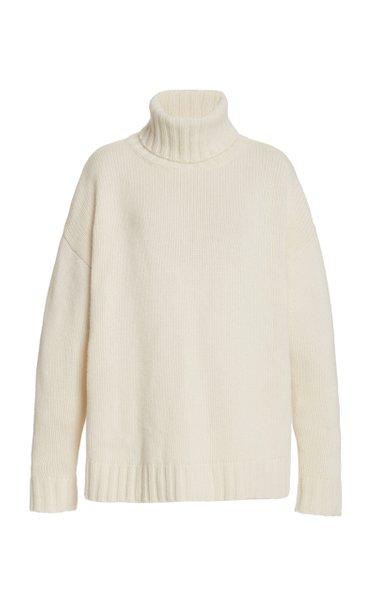 Brently Oversized Cashmere Turtleneck Sweater