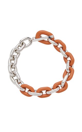 XL Contrasting Link Silver-Tone Necklace