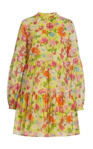 Lorene Printed Organic Cotton Mini Dress