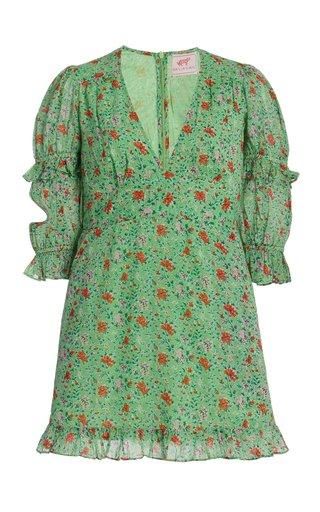 Masie Printed Cotton Mini Dress