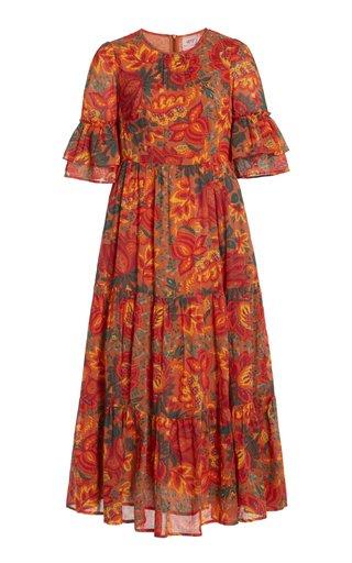 Faith Printed Organic Cotton Midi Dress