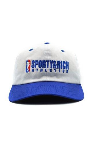 Embroidered Cotton-Twill Baseball Cap