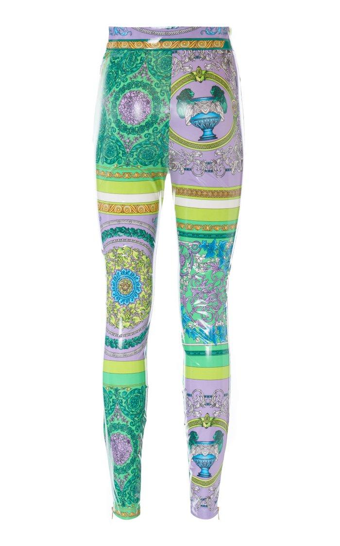 Coated Stretch Jersey Skinny Pants