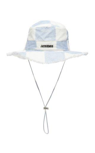 Le Bob Artichaut Checked Cotton-Linen Bucket Hat