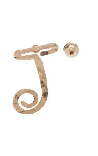 La Boucle Brass Statement Earrings