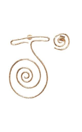 La Spirale Brass Statement Earrings