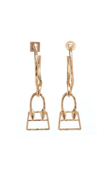 Les Creoles Chiquita Brass Earrings