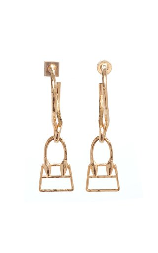 Les Creoles Chiquita Brass Earrings