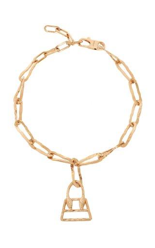 Le Collier Chiquita Pendant Brass Necklace