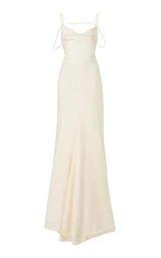 Camargue Tie-Detailed Linen Gown