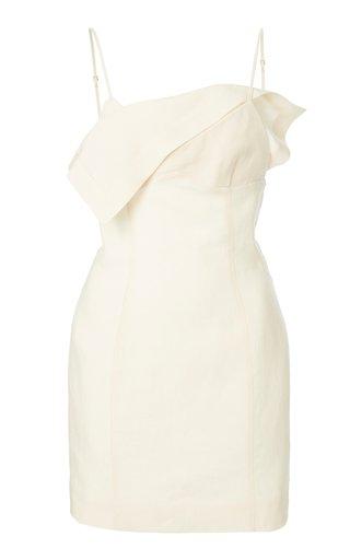 Bahia Draped Crepe Mini Dress