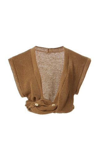 Noue Twisted Linen Crop Top