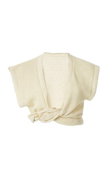Noue Twisted Linen Crop Top