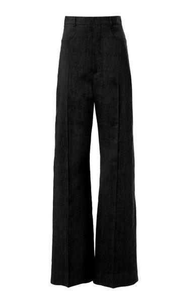 Sauge Hemp-Blend Straight-Leg Trousers